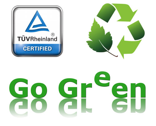 TÜV - Green - Recycling logo